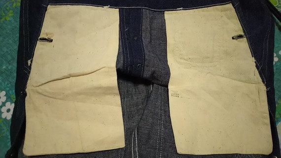 Antique overall denim railroad stronghold 1930s o… - image 4