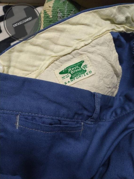 Vintage workwear pants Anvil brands sanforized