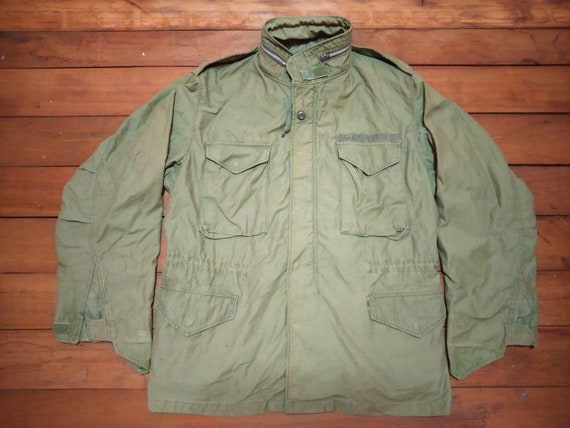 Vintage Hot coat ,Field jacket M65 hooded usmc sil