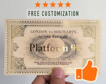 photograph regarding Hogwarts Express Ticket Printable named Hogwarts specific Etsy