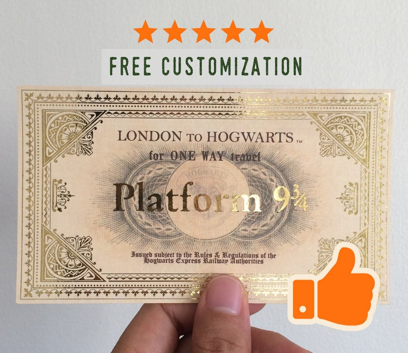 graphic regarding Hogwarts Express Printable identify Hogwarts specific ticket (printable reproduction - influenced against the video)
