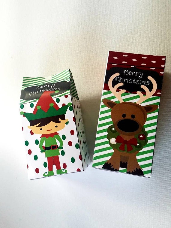Deer or Chocolate Pudding Mittens With Cover Santa Christmas Themed Gloves