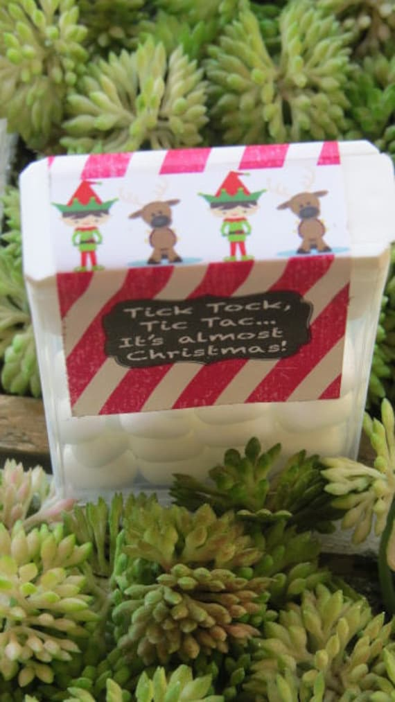 Christmas Giveaways For Kids.Custom Christmas Tic Tac Candy Treat Holiday Party Gifts Personalized Classroom Staff Treats Kids Favors Fun Stocking Stuffers Set Of 10