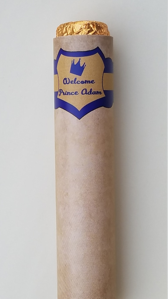 Chocolate Rolos Cigars Royal Prince Crown Baby Shower Favors Etsy
