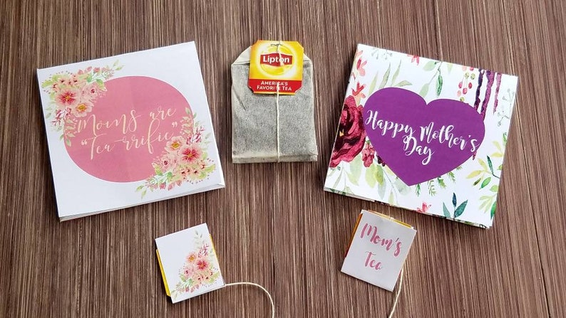 SET OF 10 Mothers Day brunch favors \u239c custom tea bags \u239c personalized tea wrappers \u239c tea envelope for moms shower or baby shower tea party