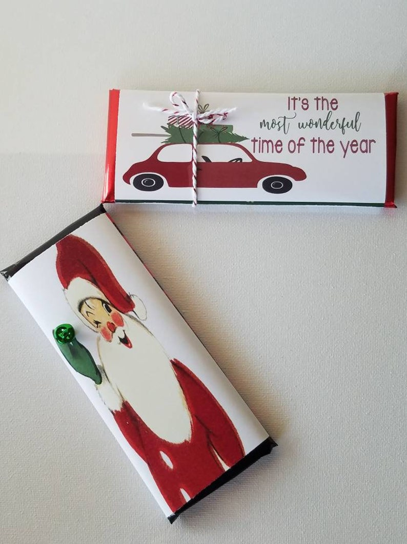 Christmas In July Party Favors.Vintage 3d Santa Christmas In July Tree Farmhouse Truck Party Favors Chocolate Bars Custom Gifts Stocking Stuffers Hershey Set Of 10