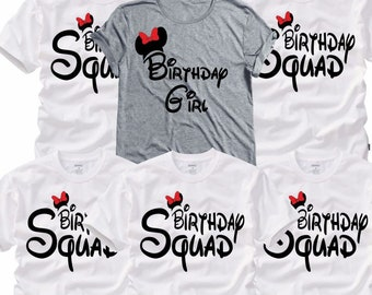 Birthday squad shirt | Etsy