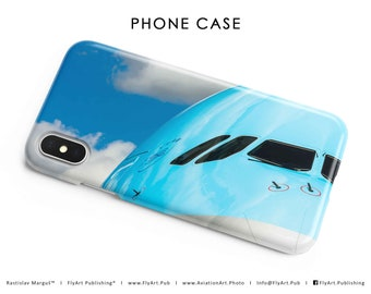 Airplane Phone Case, Mobile Phone Case, Cellular Phone Cover, Apple iPhone, Samsung Galaxy, Pilot Gifts, Korean Air, Airbus A380, Airshow