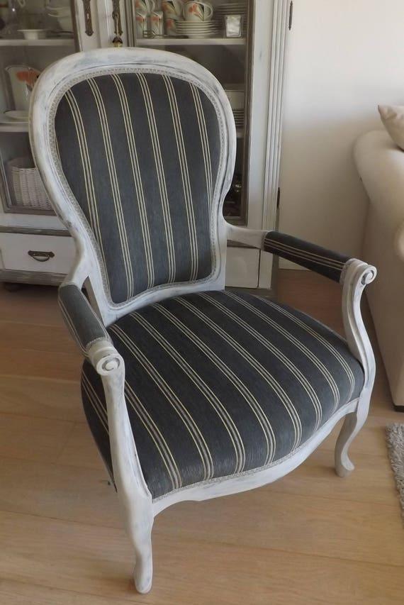 LUXUS-KLASSE: Antiker Sessel > Shabby Chic <> Salonfein Unikat <