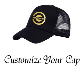 Custom Trucker Mesh Cap Personalized Snapback CapYour Text Here Name Logo Design  Cap Customize Mesh Cap Foam Net Snap Back Cap Hat b4ea6f5356c8