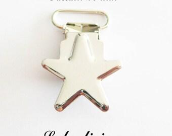 Pince étoile passant de 20 mm : Vieux rose Clip étoile Attache tétine doudou