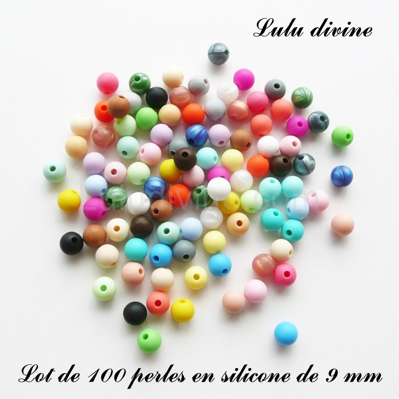 50 Perles en silicone de 15 mm mix couleur