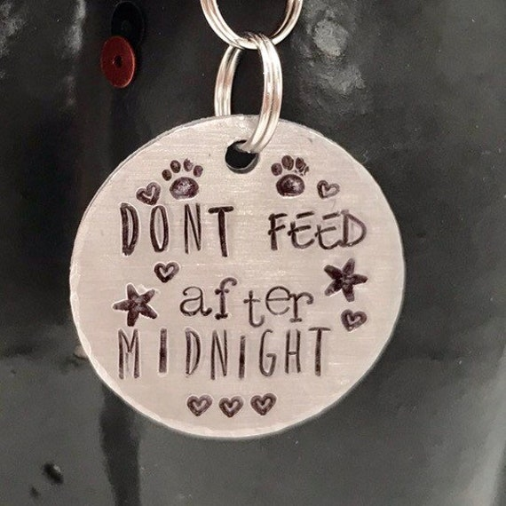 Dont Feed After Midnight Pet Tag
