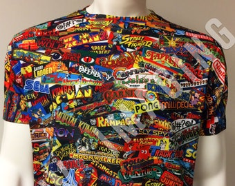 Classic Arcade Marquee _ Video Game T-shirt / Sticker Bomb Apparel