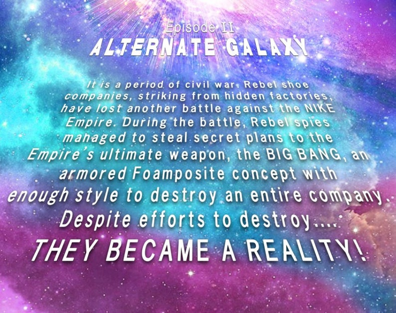 add018e7559 Foamposite Big BANG VS. Star Wars T-Shirt Alternate Galaxy