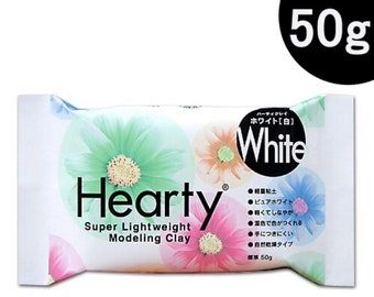 50g Padico White Hearty Super Lightweight Air Dry Modeling Clay Dollhouse Miniature Food Flower Dessert Jewellery Figure Craft Supply