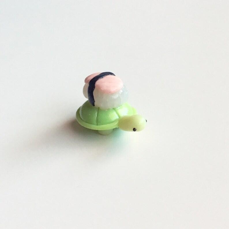 Sushi Turtle Clay Charm  Kawaii CharmsPolymer ClayPlanner Charms