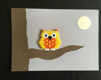 Decorative frame wall OWL on a branch 2
