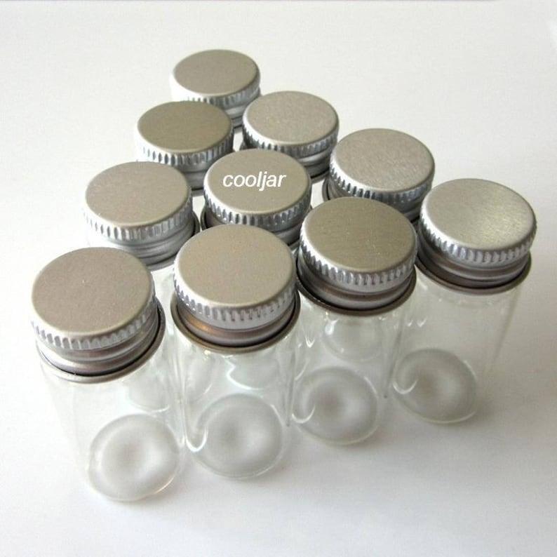6595528a9d87 10 Pcs 22x50mm 10ml Tiny Small Clear Bottles Glass Vials With Screw  Caps//mini bottle/mini jar/herb bottles/cork bottle/cork jar/clear glass