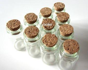 10 Pcs 22x35mm 6ml Bottles Vials/christmas bottle/spice jar/wedding bottle/decor bottle/herb bottles/wish jar/candle bottle/spice glass