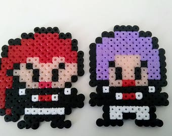 Team Rocket fuse bead fridge magnets