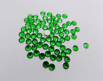 100 half rhinestone paste 4mm Mint Green