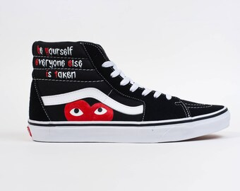"Custom Vans SK8-Hi ""Be Yourslelf Everyone Else is taken"""