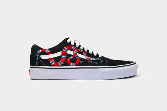 Custom Vans Old Skool Coral Snake  44917826a