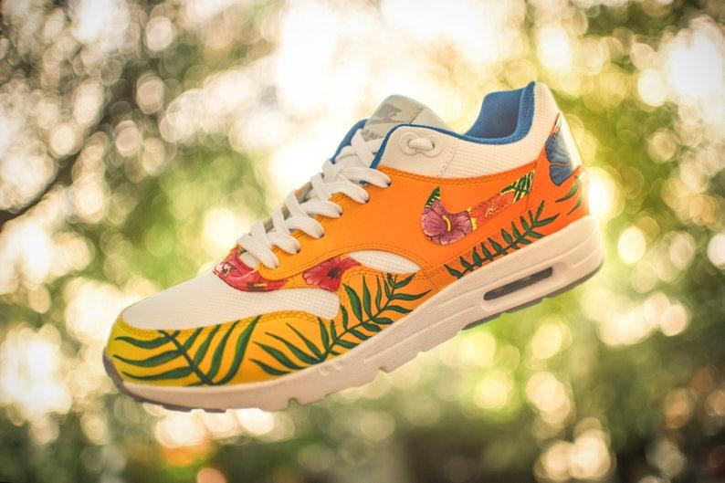 Custom Nike Airmax 1 Tramonto tropicale 2deftppe
