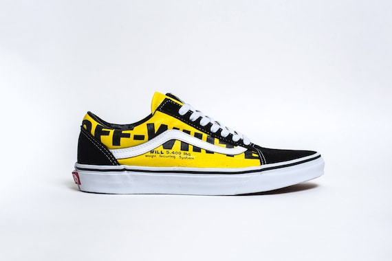 custom vans old skool off white etsy