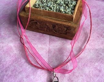 ribbon chakra necklace