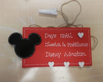 Holiday Countdown Personalised Plaques