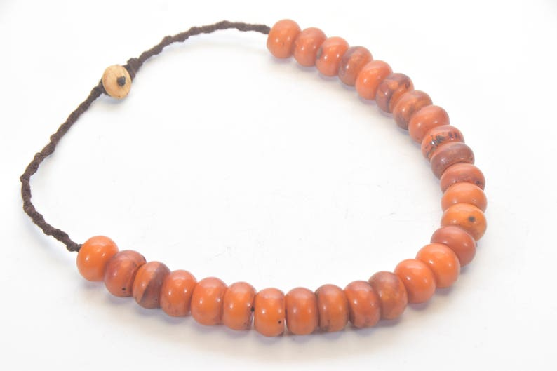Resin wood Necklace Ethnic jewelry Resin Necklace Vintage Amber Necklace Resin Jewelry Naga Necklace Nepal jewelry Beads Necklace
