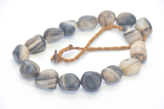 Agate necklace Ethnic Necklace Vintage strand agate beads oval agate Handmade Small eyegate agate carnelian pendants Ethnic Jewelry beads