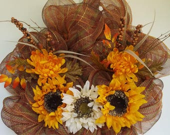 Sunflower fall wreath