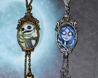 tim burton choice cameos necklace