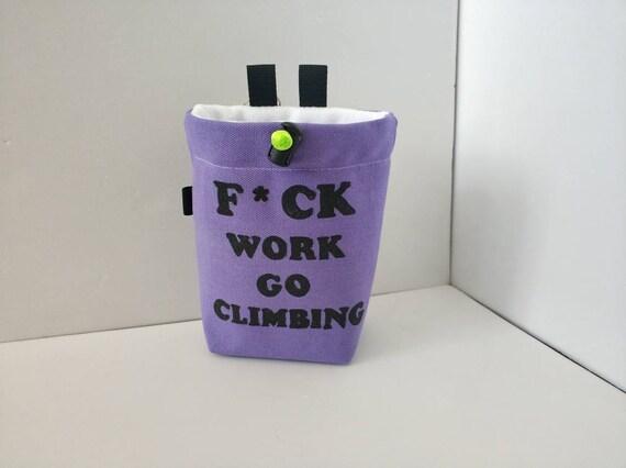 Rock climbing gifts Chalk pot Gift for climber Chalk bucket funny chalk bag chalk bag sloth Bouldering bag Rock climbing chalk bag