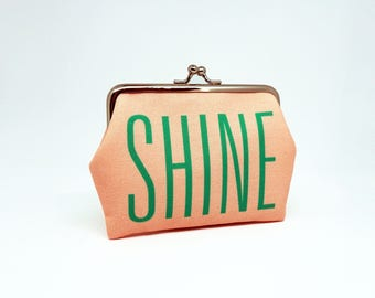 F005 // SHINE ARISE Frame Purse - Mini Wallet - Card Case - Coin Pouch