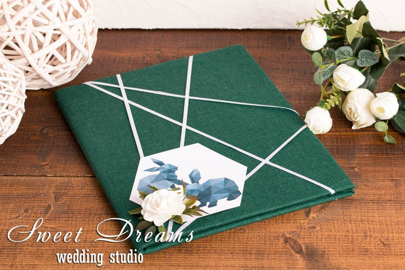 Geometry Folder For Marriage Wedding Certificate Cover Rustic Etsy