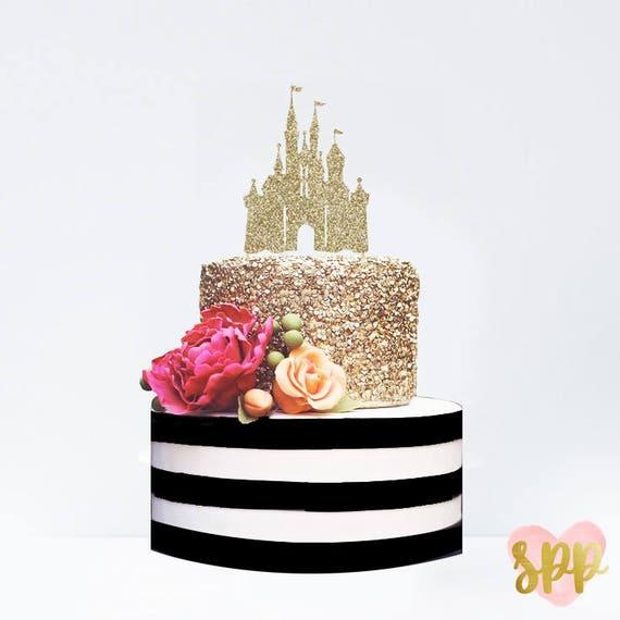 Disney Cinderella Castle Cake Topper Birthday Smash Oh Bab Etsy