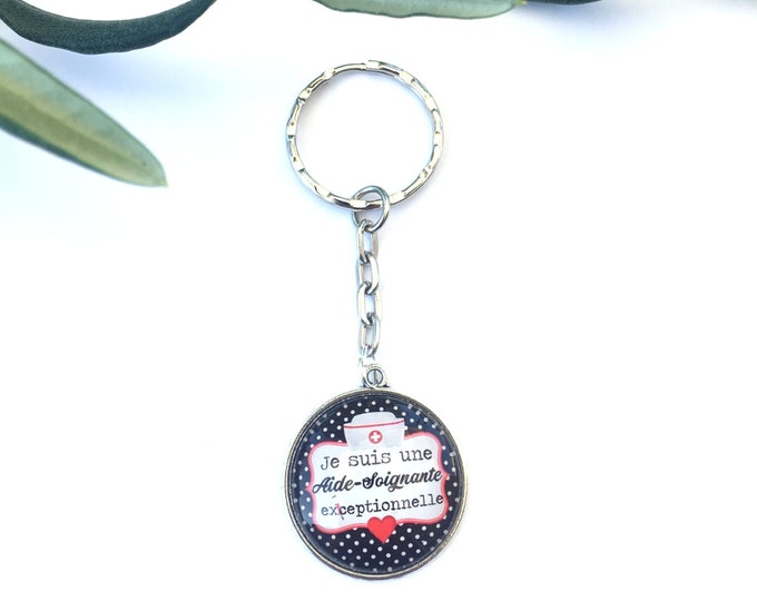 """Keychain """"I'm an exceptional nurse"""" metal, perfect for gift! Gift nurse nanny colleague Director"""
