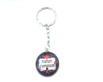 """Keychain """"Family"""" ideal as a gift! MOM dad Grandpa great Godfather, badass perfect"""