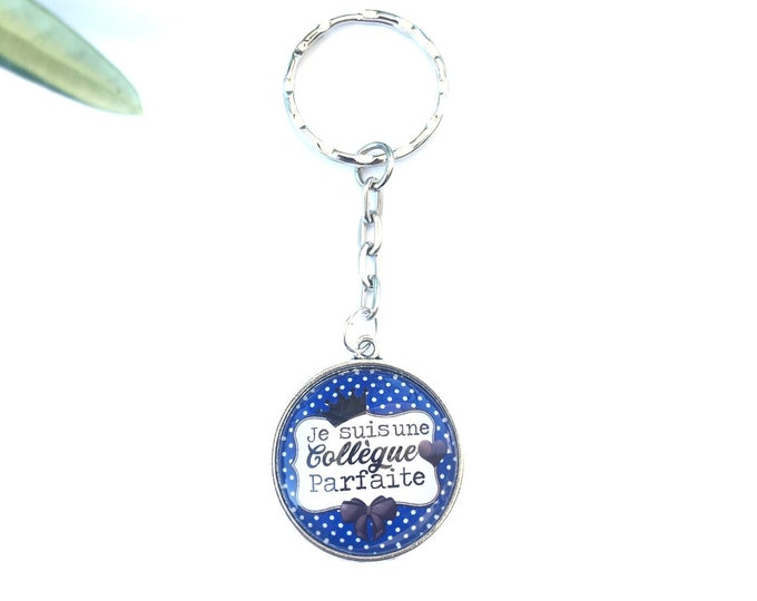 """Keychain """"I am a perfect coworker"""" metal, perfect for gift! Gift nurse nurse nanny colleague Director"""