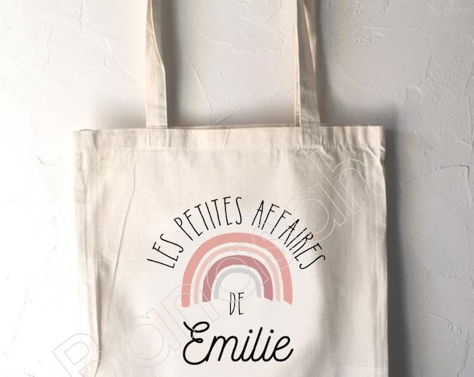 Personalized tote bag for children, tote bag school, canvas bag tote, bag todou, bag for children's clothes, tote bag creche