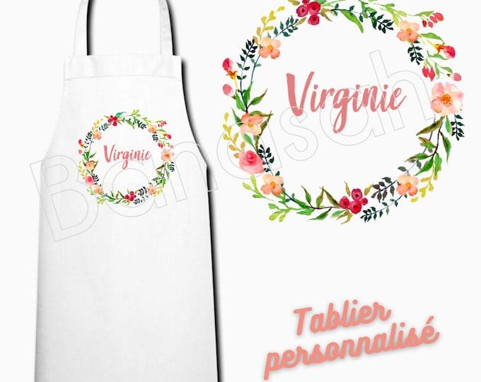 White customizable kitchen apron, adult size, mom gift idea, humor, funny
