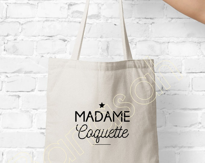 """Tote bag """" Madam ... """" shopping bag, Ideal as a practical gift and original Mother, Mom"""