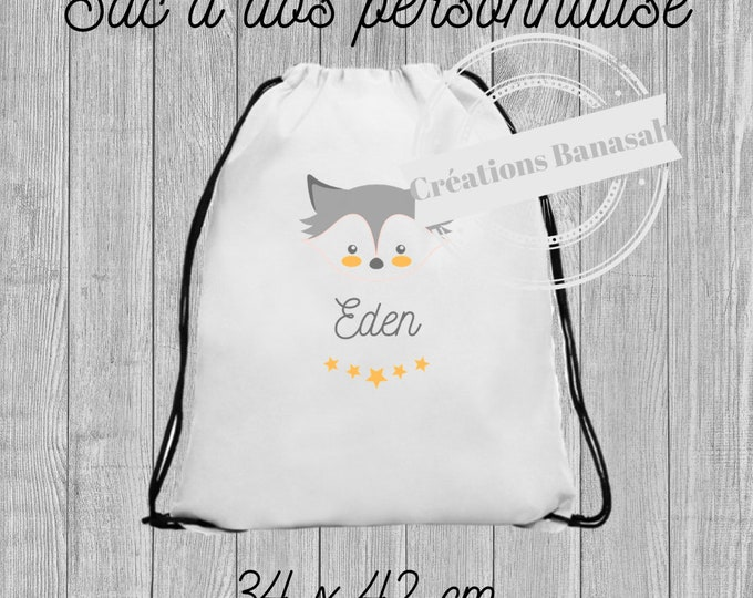 Custom cotton backpack with sliding links! Sending quick children back-to-school gift idea, school gift, useful gift