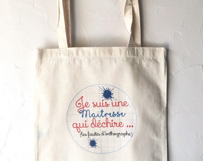 Tote Bag cotton personalized teacher gift!