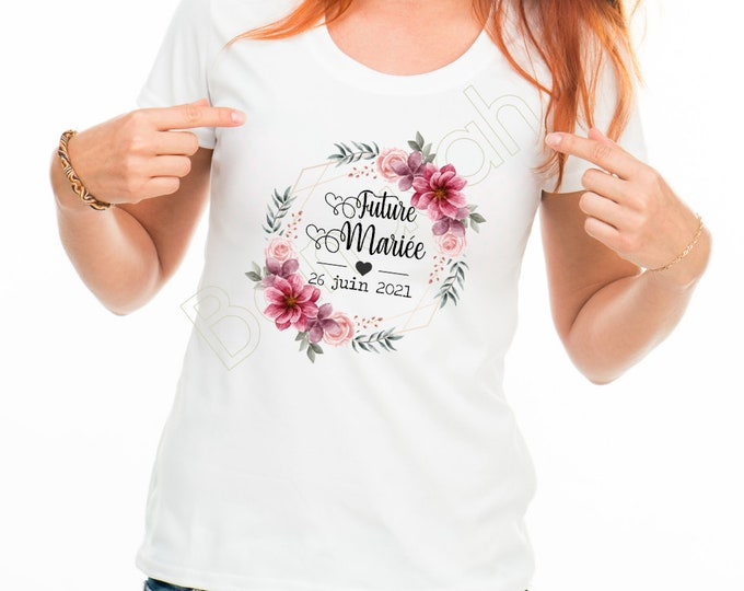"""Cotton T-shirt for EVJF """"Future Bride""""! Gift witness wedding Young girl's life funeral"""
