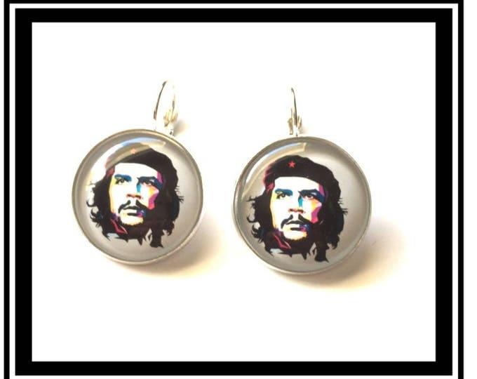 "Earrings vintage, activist, hero, Cuba, Cuban man ""Che Guevara"""